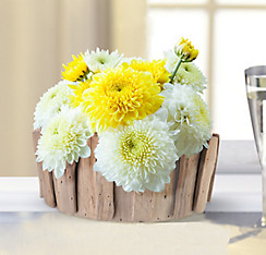 Wedding centerpieces wedding table decorations party city rustic wood chip basket decoration junglespirit Image collections