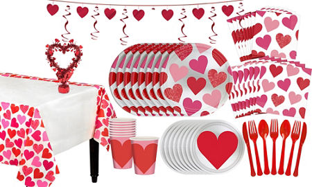 key to your heart valentines day tableware kit for 8 guests