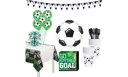 soccer super tableware kit for 16 guests soccer valentine box