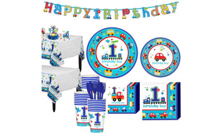 All Aboard Train St Birthday Party Decorations Kit