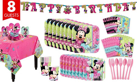 Minnie Mouse Tableware Party Kit For 8 Guests
