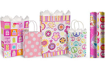 Gift bags gift wrap wrapping paper tissue paper party city girls birthday gift bags gift wrap negle Image collections
