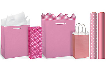 Gift bags gift wrap wrapping paper tissue paper party city pink gift bags gift wrap negle Choice Image