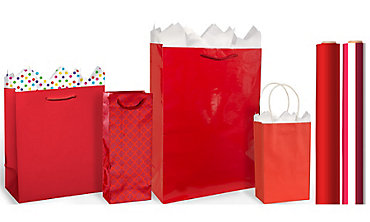 Gift bags gift wrap wrapping paper tissue paper party city red gift bags gift wrap negle
