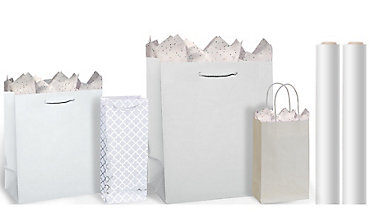 Girls birthday gift bags wrap party essentials party city white gift bags gift wrap negle Image collections