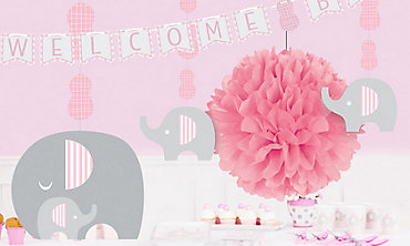 Baby Shower Decor Clearance ~ Baby shower decorations for girls party city