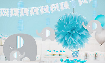 Baby Shower Decor Clearance ~ Baby shower decorations for boys party city