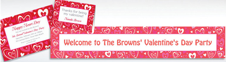 custom valentine party invitations thank you notes