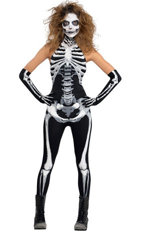 adult bone a fied babe skeleton costume
