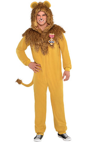 adult zipster cowardly lion one piece costume the wizard of oz