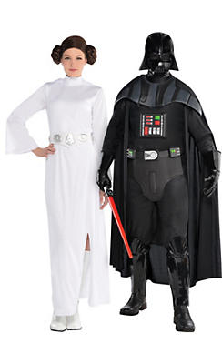Couples halloween costumes ideas halloween costumes for couples adult princess leia darth vader couples costumes star wars solutioingenieria Image collections
