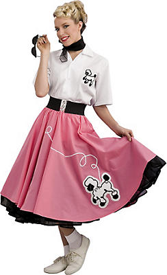 Adult 50s Pink Poodle Dress Costume Grand Heritage