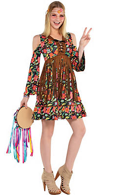 60s costumes for women hippie costumes costume ideas party city adult flower power hippie costume solutioingenieria Choice Image