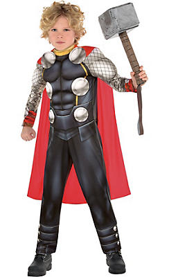boys thor muscle costume