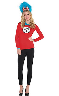 adult thing 1 thing 2 long sleeve costume dr seuss