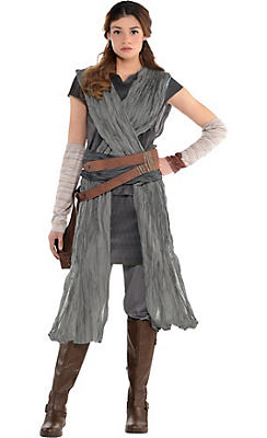 Star wars costumes for kids adults party city adult rey costume star wars 8 the last jedi solutioingenieria Images