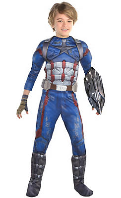 boys captain america costume avengers infinity war