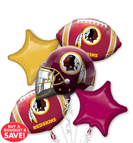 Washington redskins party supplies party city washington redskins balloon bouquet 5pc voltagebd Image collections