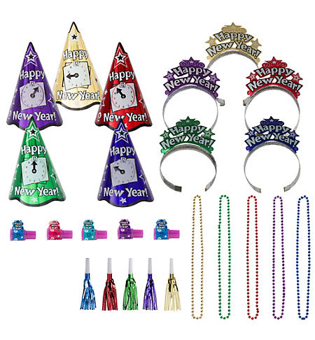 Black, Gold & Silver Graduation Decoration Party Kit