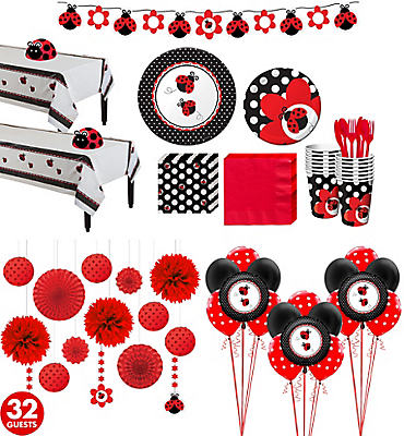 Ultimate Ladybug Baby Shower Kit for 32 Guests