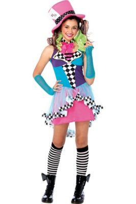 teen girls mayhem hatter costume
