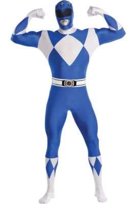 185956f105f Adult Blue Power Ranger Partysuit - Mighty Morphin Power Rangers