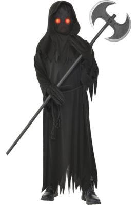 boys light up glaring grim reaper costume