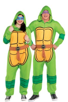 0445a6c6537 Adult Zipster Teenage Mutant Ninja Turtles One Piece Costume Plus Size