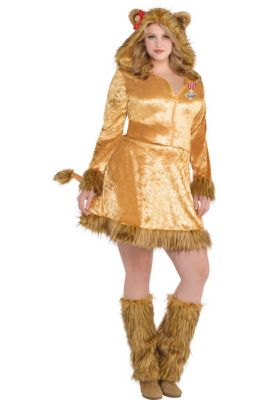adult cowardly lion costume plus size the wizard of oz