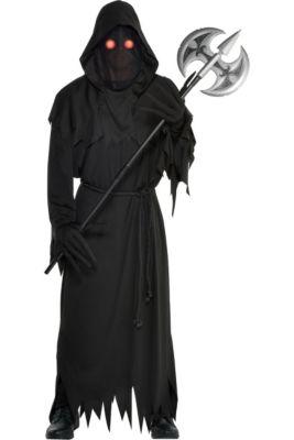 mens light up glaring grim reaper costume