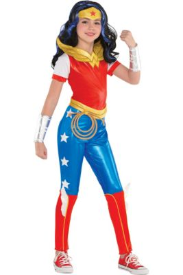 Girls Wonder Woman Jumpsuit Costume