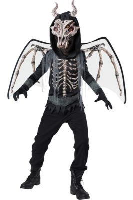 boys underworld skeleton dragon costume