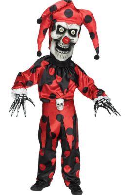 boys evil skeleton jester costume