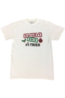 Adult Naughty Nice T Shirt