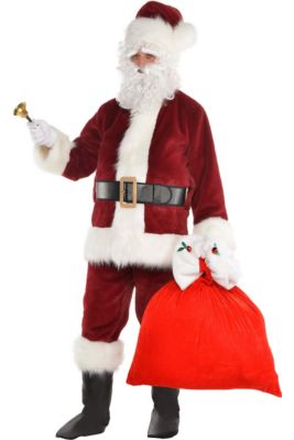 eec30ef92 Adult Dark Red Santa Suit Costume Kit
