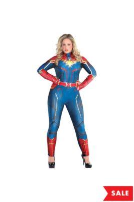 45684e2c68 Adult Light-Up Captain Marvel Costume Plus Size - Captain Marvel