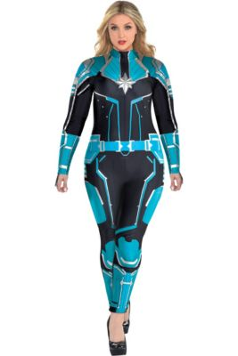 40b45167436 Adult Captain Marvel Starforce Costume Plus Size- Captain Marvel