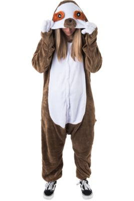 b902e483a Adult Zipster Sloth One Piece Costume