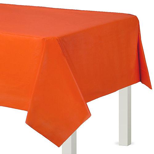 Orange Plastic Table Cover
