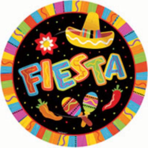Bright Fiesta Dinner Plates 8ct