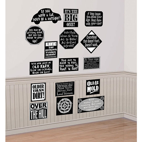 Over The Hill Vinyl Cutouts 16ct