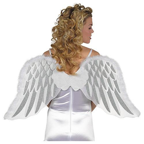 Fancy Dress 3 Sizes Real Feather Angel Wings Dark Angels