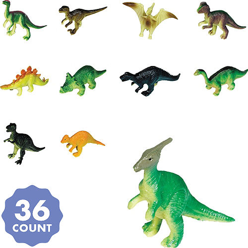 Toy Prehistoric Dinosaurs 36ct