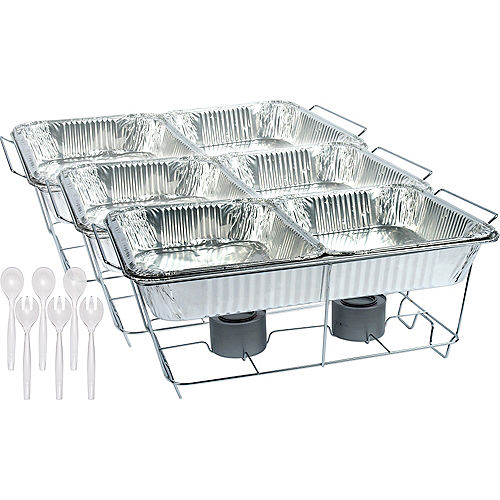 Catering Chafing Dishes Aluminum, Disposable Buffet Warmers