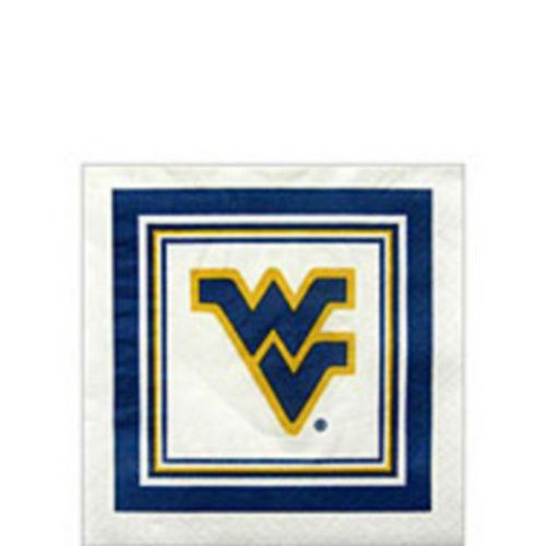 West Virginia Mountaineers Beverage Napkins 16ct