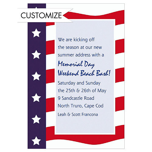 4th of july invitations patriotic invitations party city