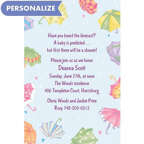 Custom baby shower invitations baby shower invites party city custom umbrellas baby shower invitations filmwisefo