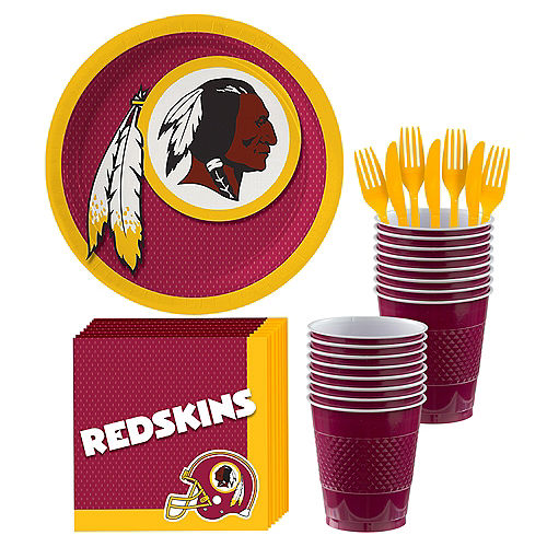 ecbe84388 Washington Redskins Party Kit for 18 Guests
