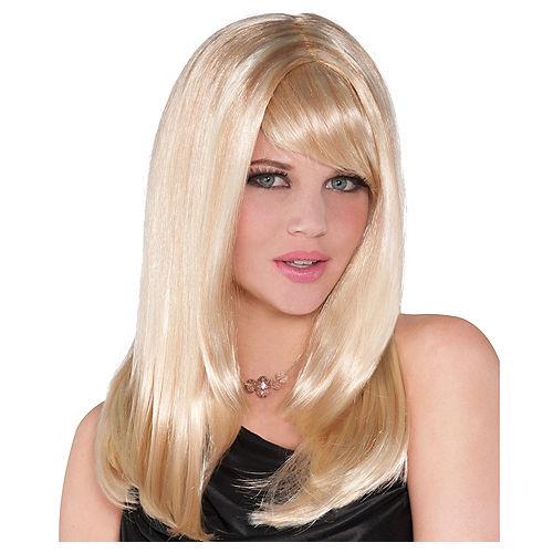 Adult Long Starlet Blonde Costume Wig