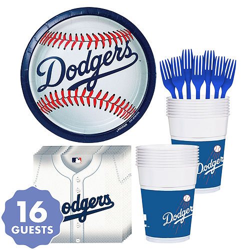 Los Angeles Dodgers Party Kit For 18 Guests